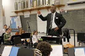 This band teacher has passion for his job.