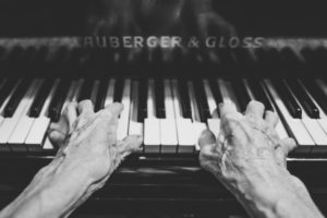 A musician weathered by experience Photo credit: Unsplash